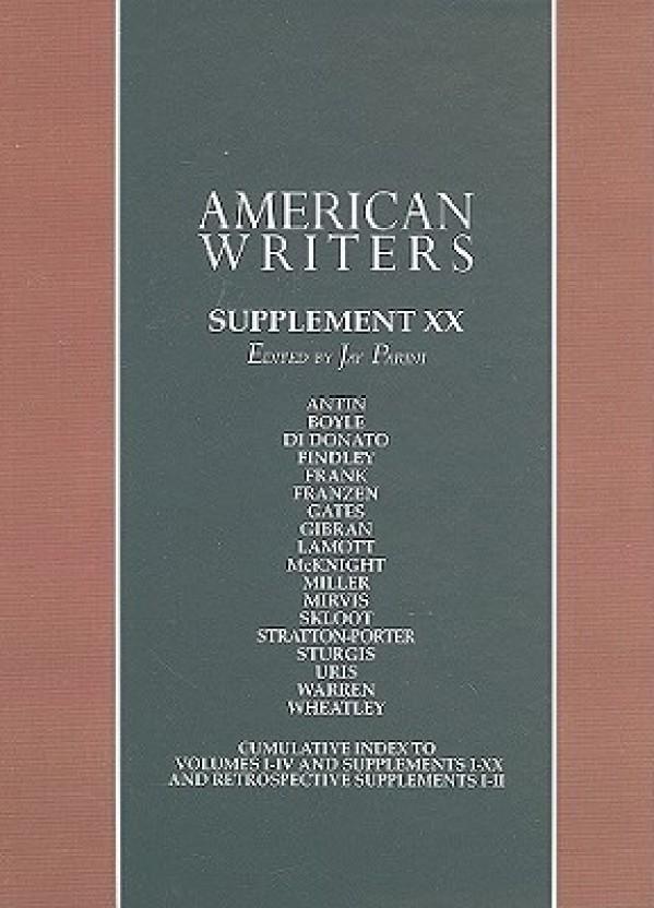 American Writers, Supplement XX