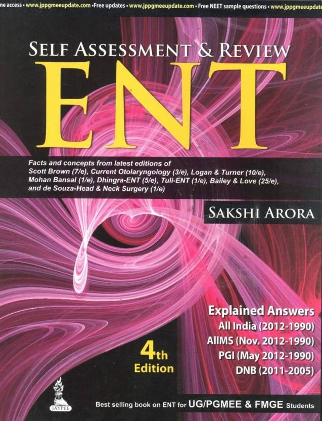 SELF ASSESSMENT & REVIEW ENT 4 ed Edition