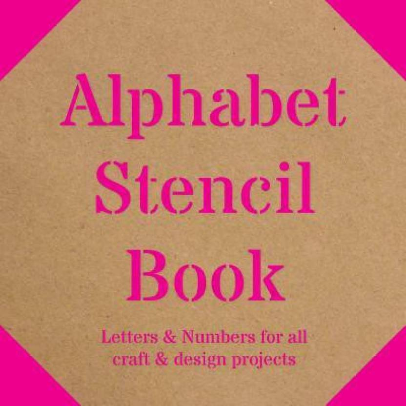 Alphabet Stencil Book Letters Numbers For All Craft Design Projects