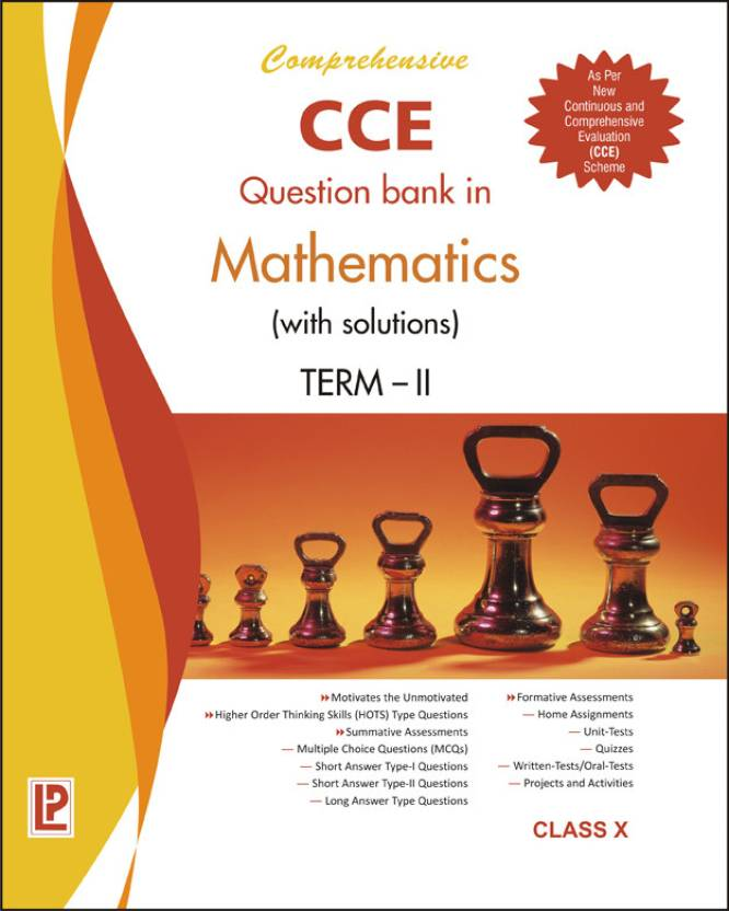Comprehensive CCE Question Bank in Mathematics with solutions (Term