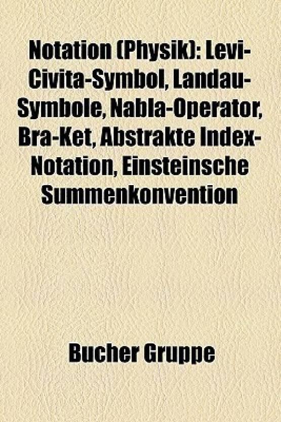 Notation Physik Levi Civita Symbol Landau Symbole Nabla