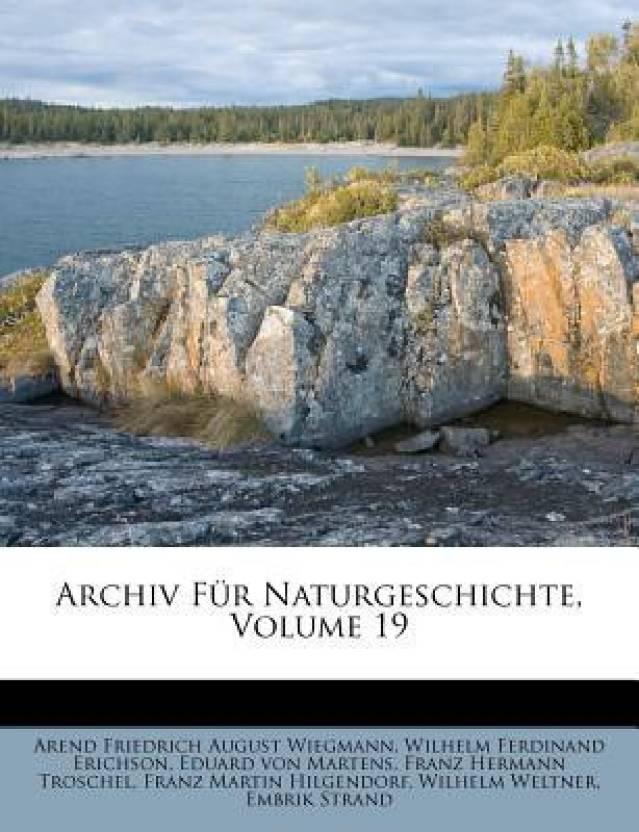 Archiv Fur Naturgeschichte, Volume 19
