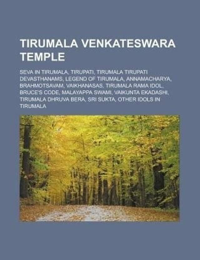 Tirumala Venkateswara Temple: Seva in Tirumala, Tirupati, Tirumala
