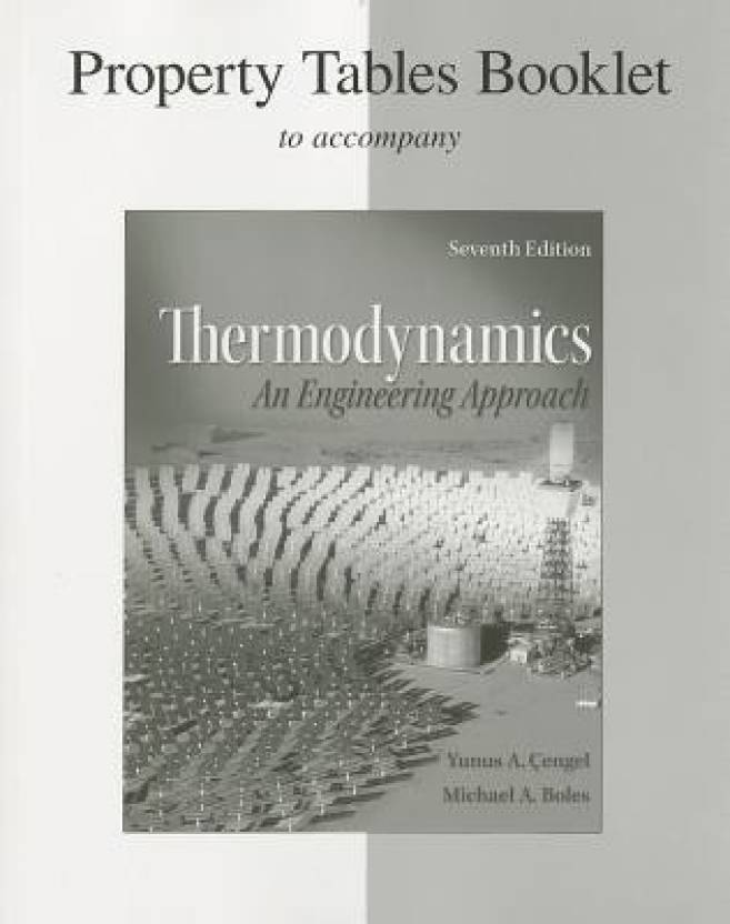Property Tables Booklet Thermodynamics An Engineering Approach 7th