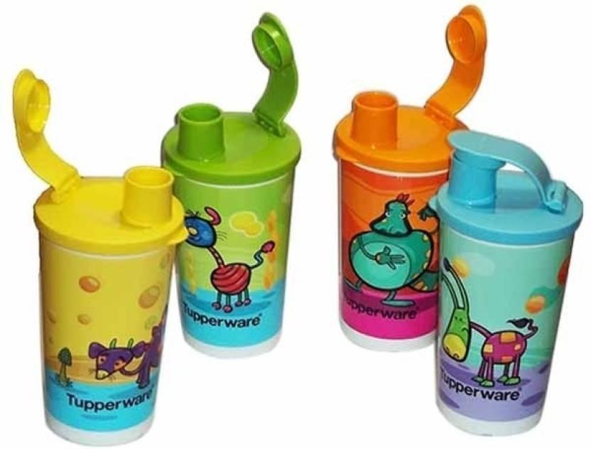 Tupperware 1 330 ml Sipper Pack of 4, Multicolor