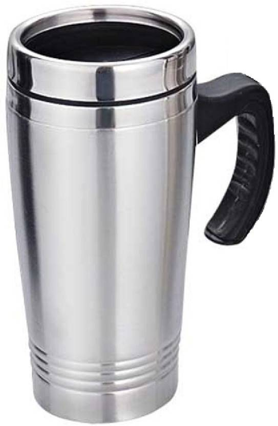 1a150c56e16 Minura STEEL HIGH QUALITY SIPPER CUM COFFEE MUG 480 ml Flask (Pack of 1,  Silver)