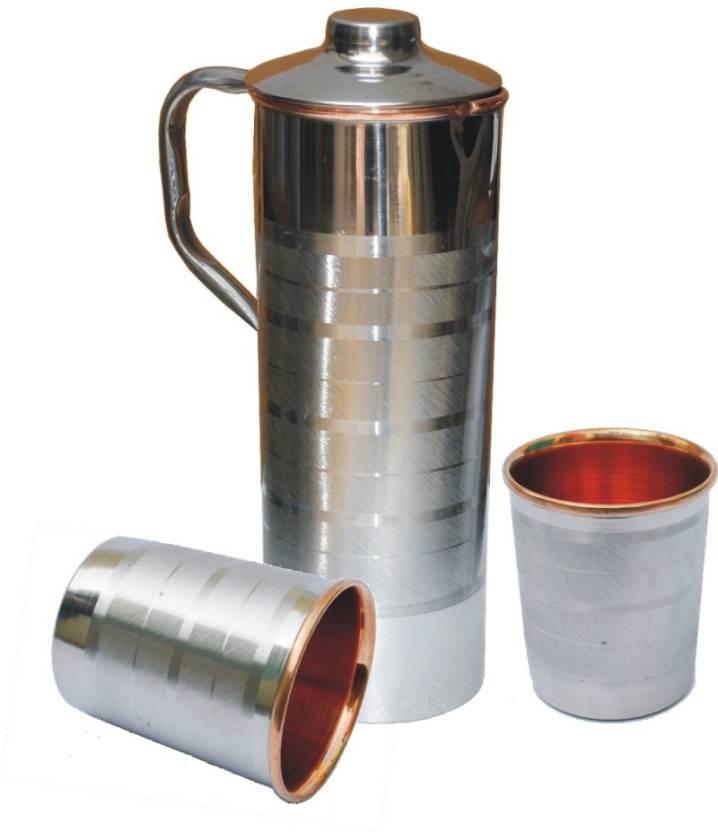 ffe49551a77 Veda Home   Lifestyle VEDA STEEL COPPER FRIDGE BOTTLE SET 1400 ml Bottle  (Pack of 3