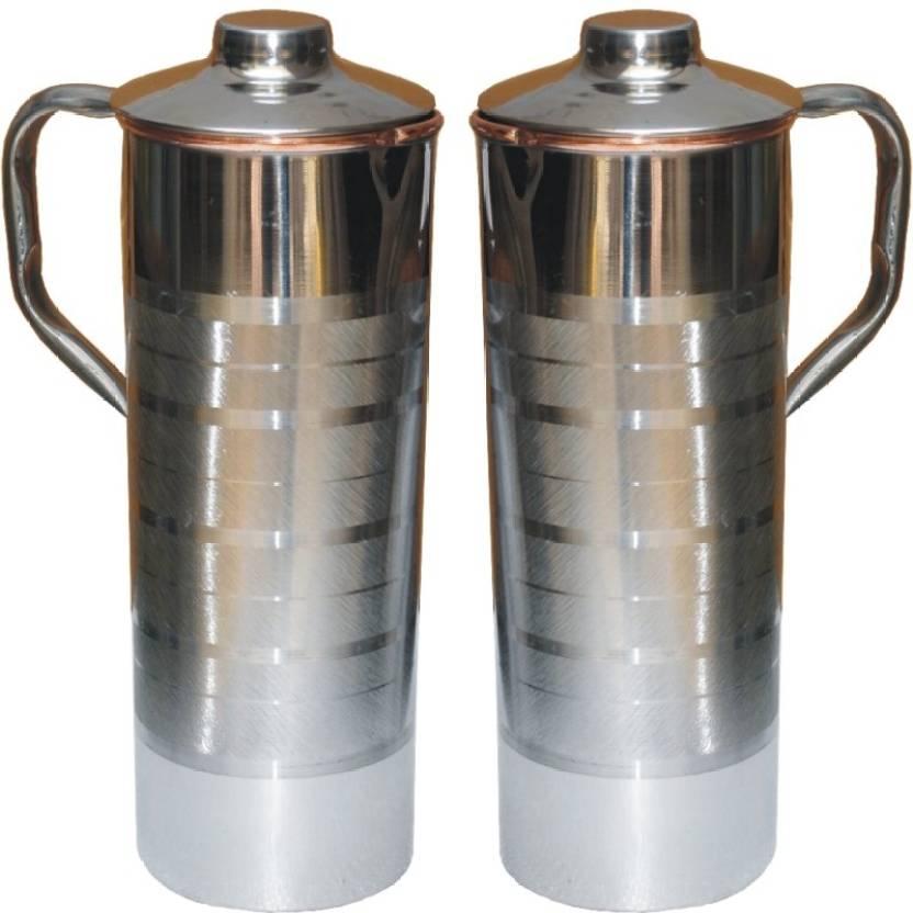 3d9e7965754 Veda Home   Lifestyle VEDA STEEL COPPER FRIDGE BOTTLE SET 2000 ml Bottle  (Pack of 2