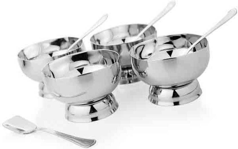 Mosaic Ice Cream Cup Set 8 Pieces Stainless Steel Bowl Set Price