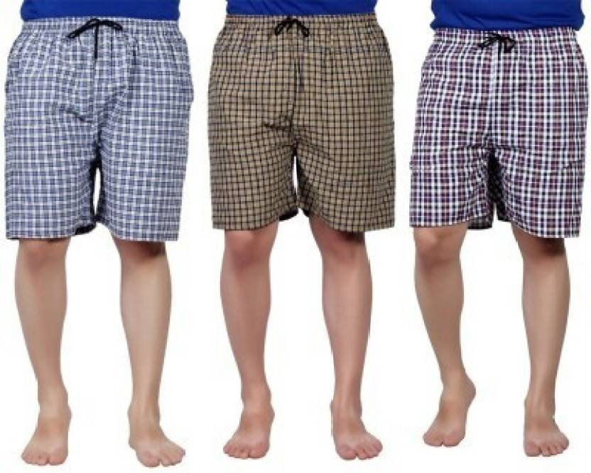 Zoldy Checkered Mens Boxer  (Pack of 3)