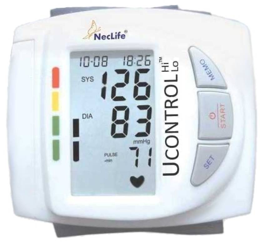 Neclife Portable Wrist Bp Monitor