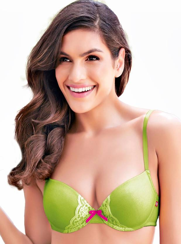 Enamor Women's Push-up Green Bra
