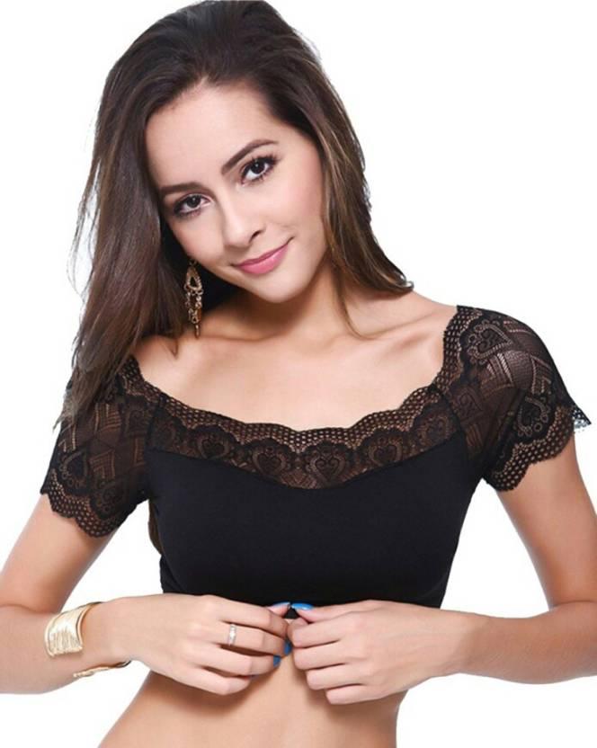 811b34837d PrivateLifes Women s Bralette Lightly Padded Bra - Buy Black ...