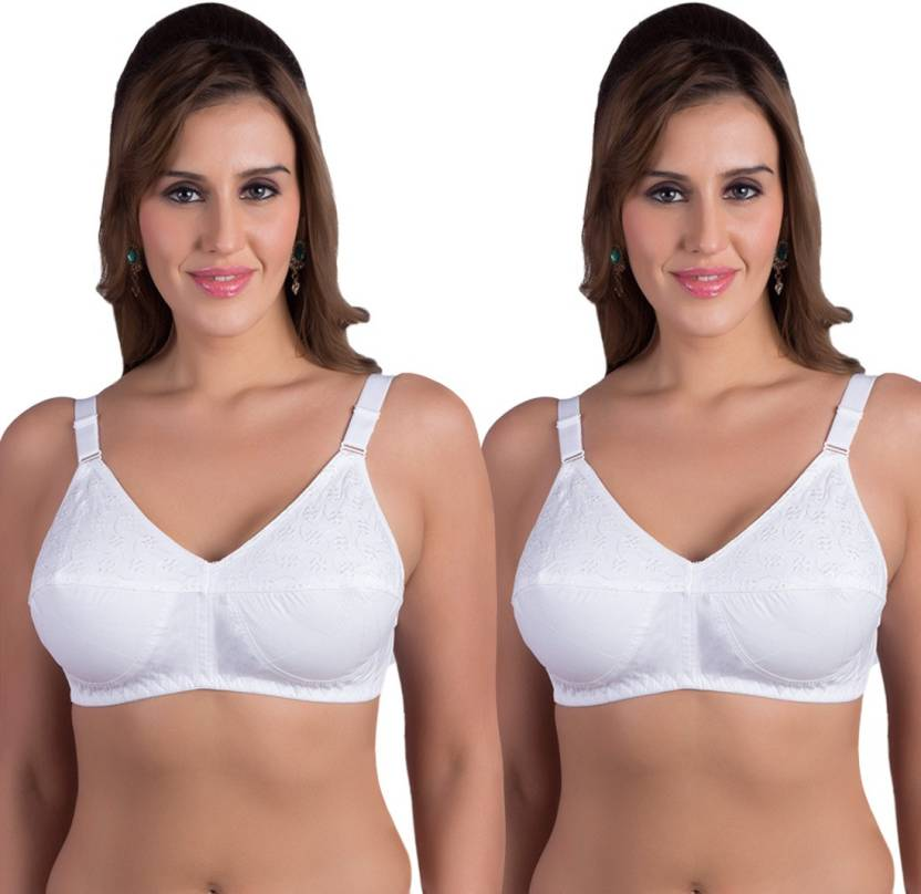 4154ef8ab8 Rajnie by Belle Lingeries Women Full Coverage Non Padded Bra - Buy ...