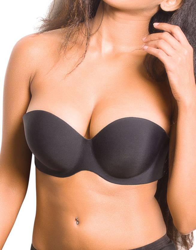 95c53a36f5 Blush Hearts Women s Stick-on Bra - Buy Black Blush Hearts Women s ...