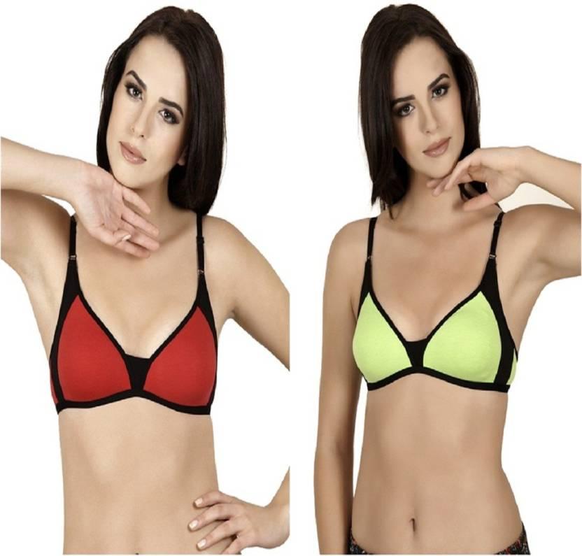 ab5421222 Alies Lingerie Women s Bralette Non Padded Bra - Buy Parrot Green ...