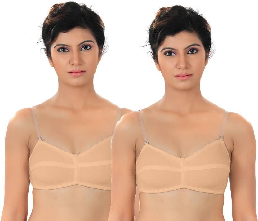 e4ca88eaeb Fabme Women s T-Shirt Non Padded Bra - Buy Brown Fabme Women s T ...