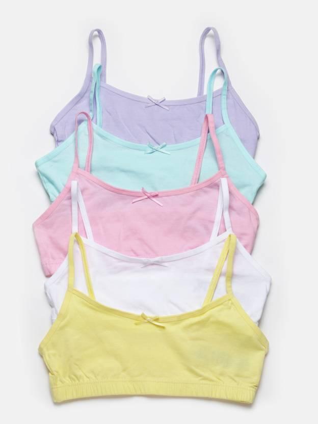 Marks & Spencer Girls Sports Bra - Buy Yellow, White, Pink Marks ...