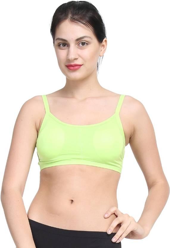 8ab9e005a3 PrettyCat Women s Bralette Lightly Padded Bra - Buy Green PrettyCat ...