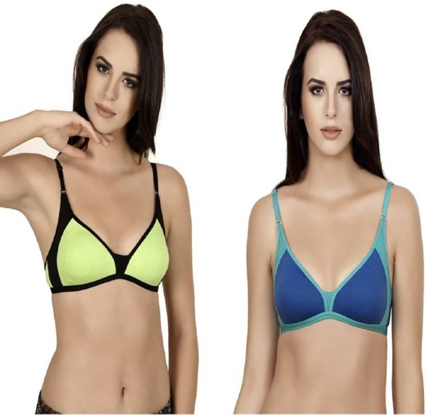 c21f070964 Alies Lingerie Women s Bralette Non Padded Bra - Buy Parrot Green ...