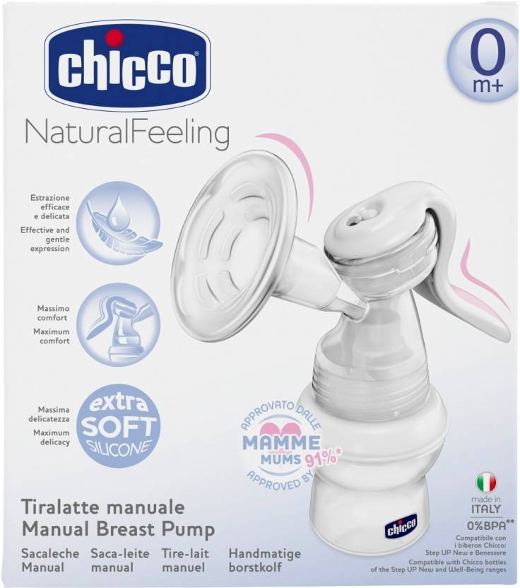 Chicco Manual Breast Pump (White)