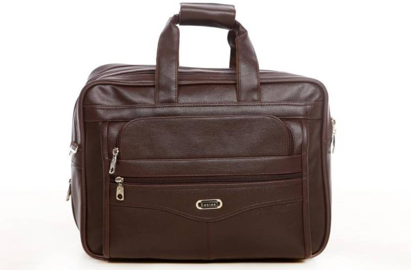 3b7d6510874e Easies Synthetic Leather Full Expandable 16 Inches Executive Brown Color Office  Bag Large Briefcase - For Men (Brown)