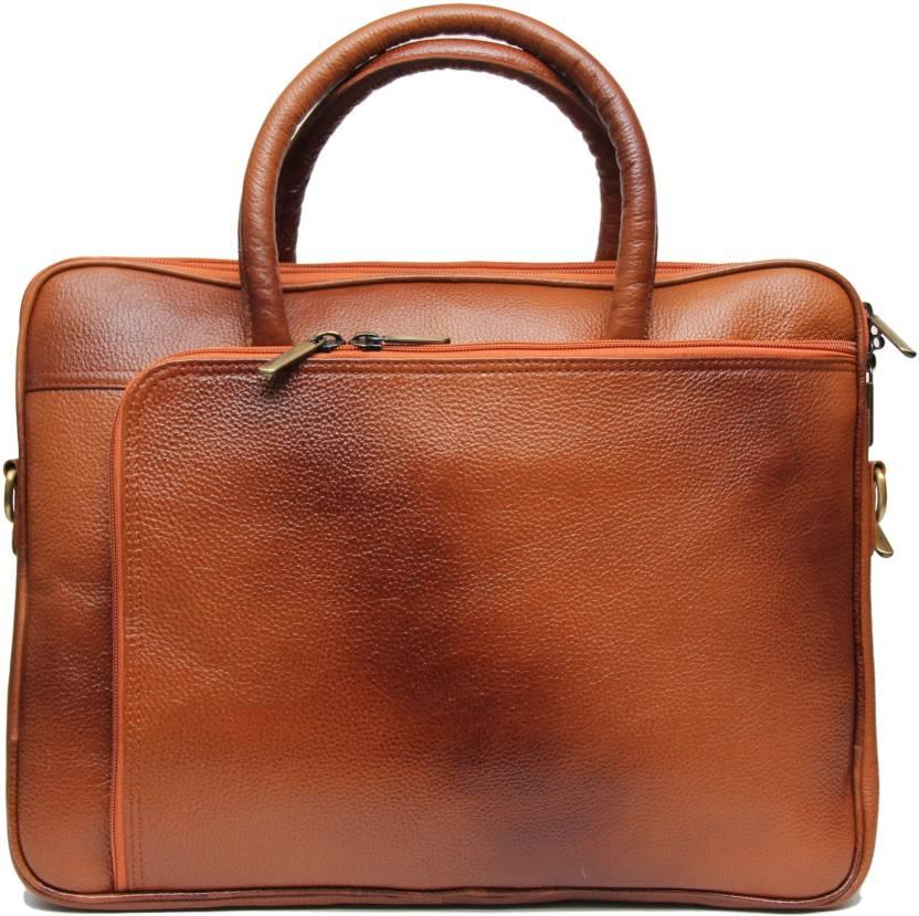 9f0211cd1cb C Comfort Genuine Leather Medium Briefcase - For Men - Price in ...