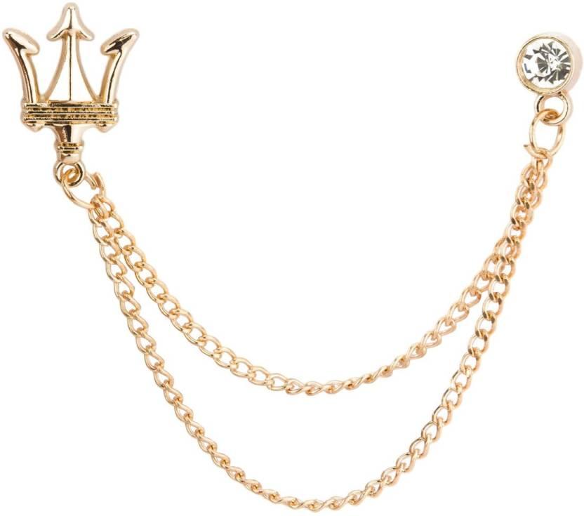 Knighthood Gold Crown With Swarovski Brooch