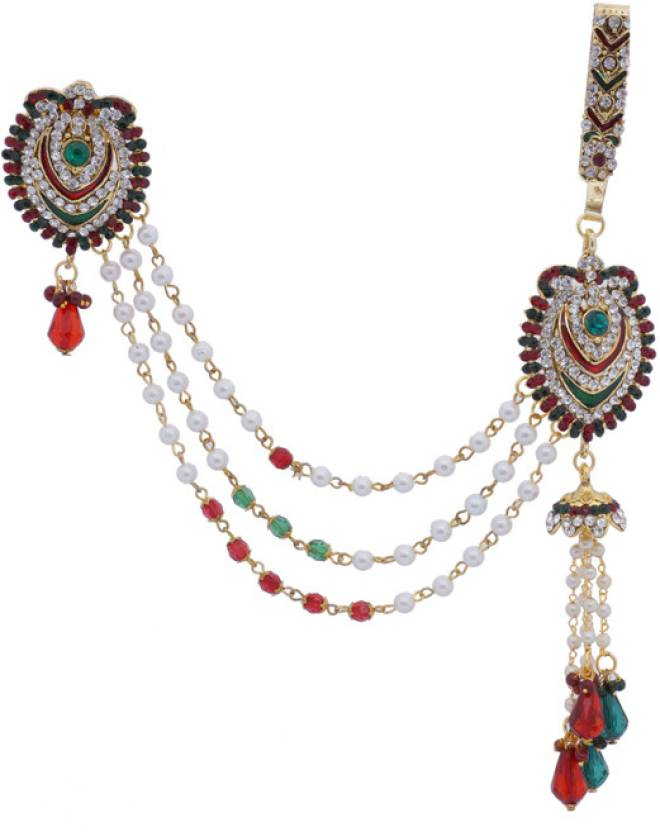 Hyderabadi Abhushan Heart Symbol With Key Chain Brooch Price In
