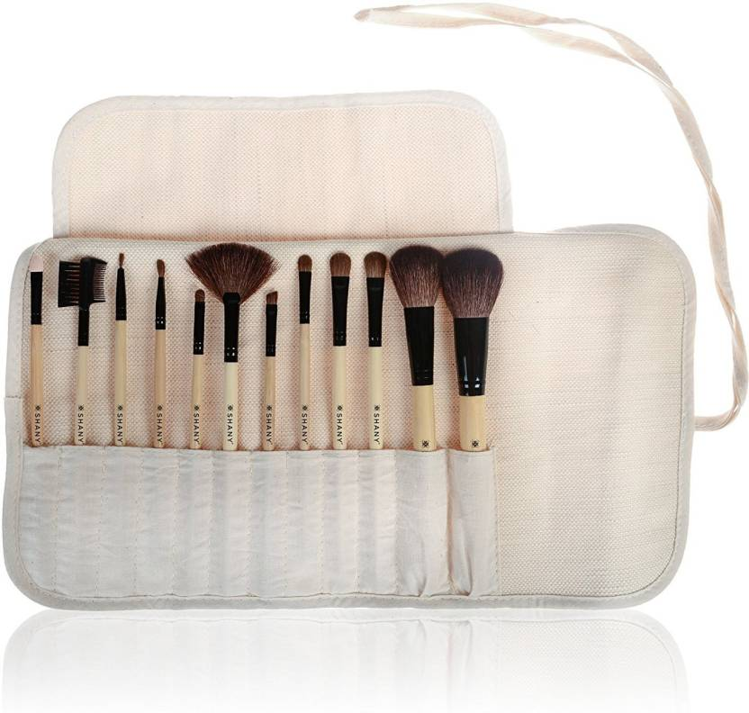 8784a5997c28 Shany PROFESSIONAL 12PC NATURAL BAMBOO BRUSH SET - Price in India ...