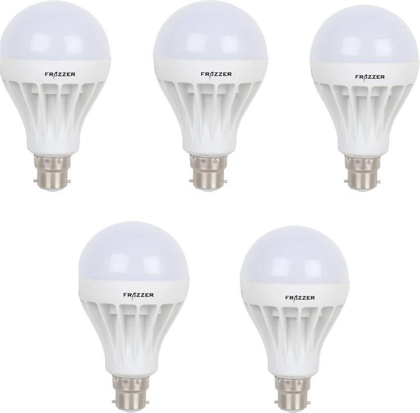 Minimum 30% Off On LED Bulbs By Flipkart | Frazzer 9 W Standard B22 LED Bulb  (White, Pack of 5) @ Rs.399