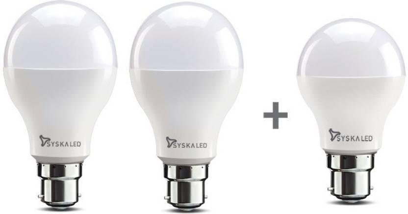 Syska 15W Led Pack Of 2 + 9W Led Bulb Just Rs.449 By Flipkart | Syska Led Light 15W (White) @ Rs.449