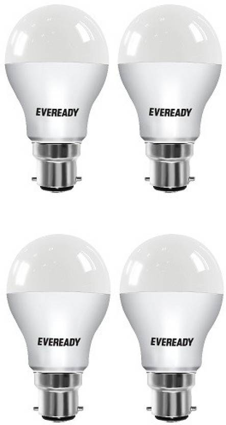 Eveready 7 W Standard B22 LED Bulb (White, Pack of 4)