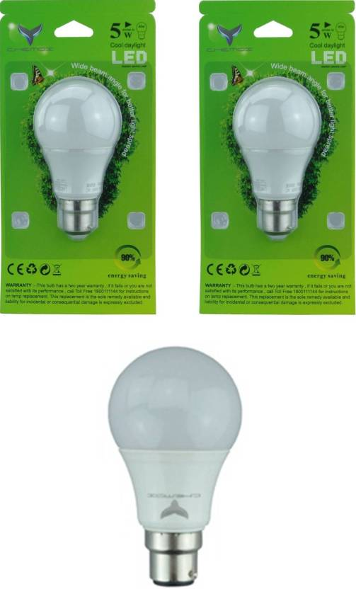Chemox 5 W Standard b22 LED Bulb Price in India - Buy Chemox