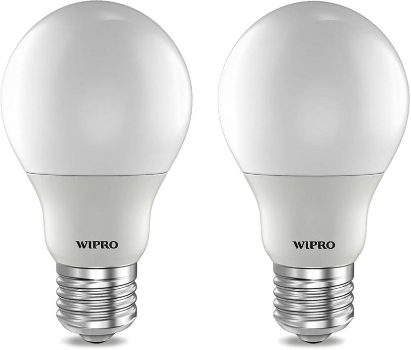 Wipro 3 W Standard E27 Led Bulb Yellow Pack Of 2