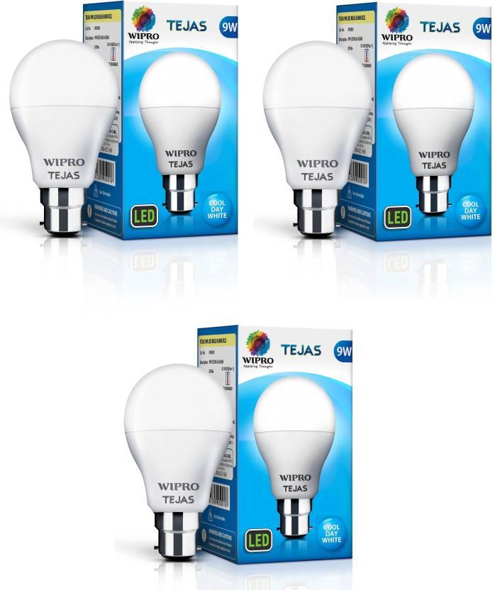 Wipro Tejas 9 W Standard B22 LED Bulb