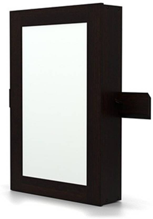 Urban ladder ibex wall mirror with storage solid wood wall for Bathroom cabinets urban ladder