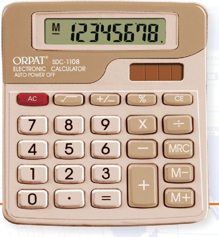 Orpat SDC 1108 Basic  Calculator