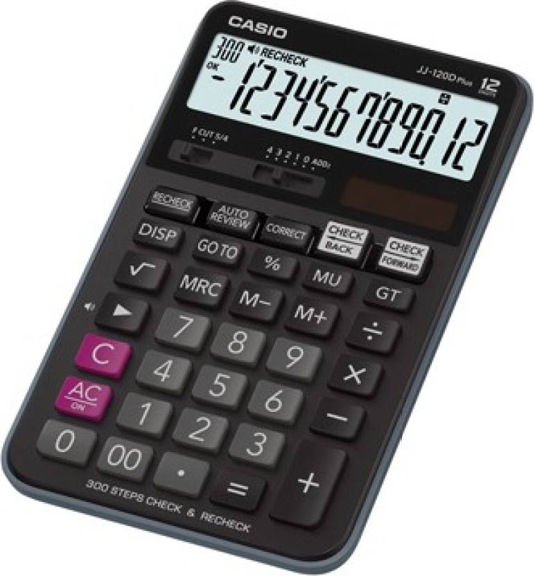 Casio JJ-120D Plus Basic  Calculator