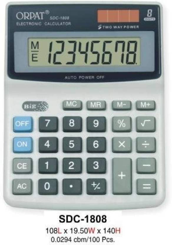Orpat SDC 1808 Basic  Calculator