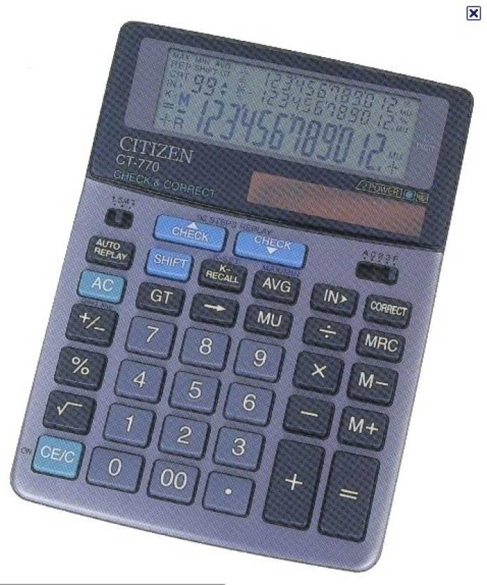 Citizen CT-770 Basic  Calculator