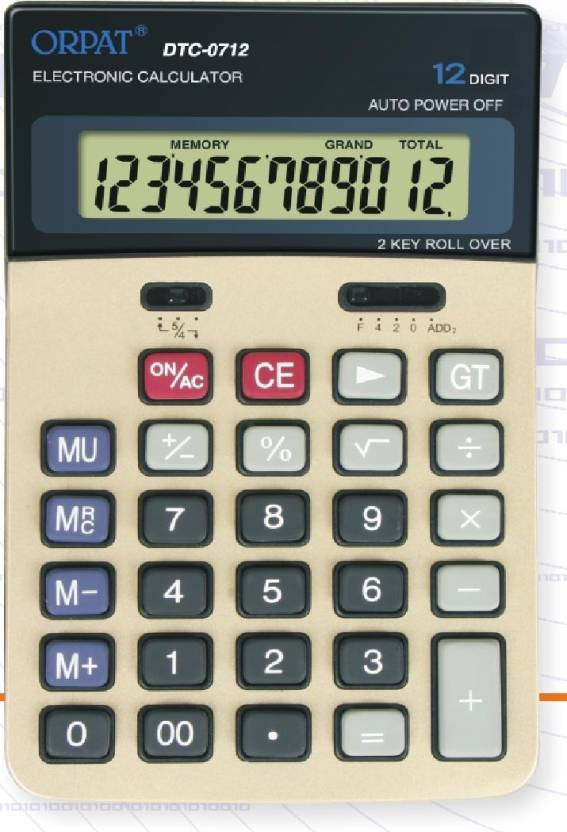 Orpat DTC 0712 Basic  Calculator
