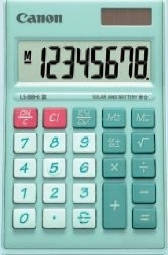Canon LS 88 Hi green Basic  Calculator