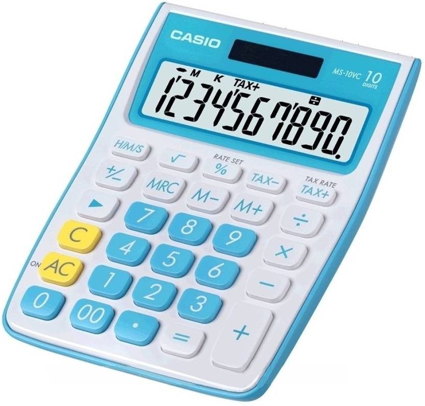 Casio MS-10VC-BU Basic  Calculator