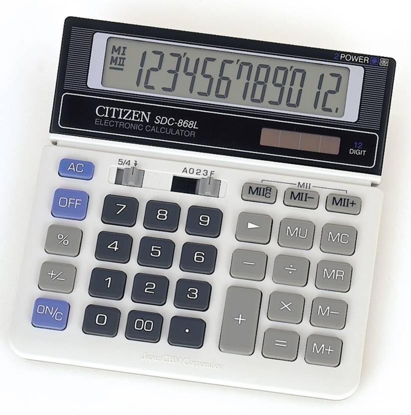 Citizen SDC-868 L Basic  Calculator