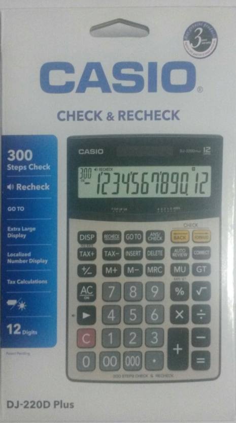 Casio DJ- 220D Plus Basic  Calculator