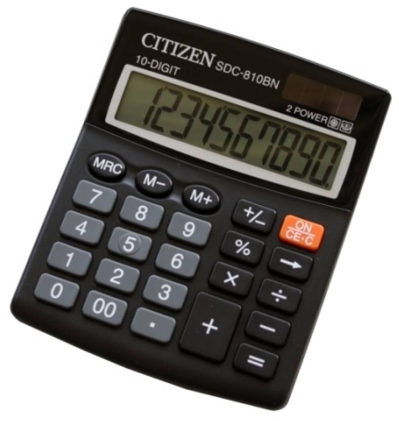 Citizen SDC-810 BN Basic  Calculator
