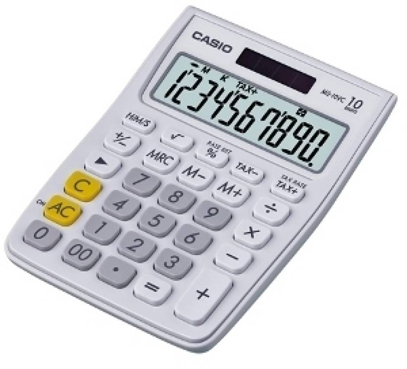 Casio MS-10VC-WE Basic  Calculator