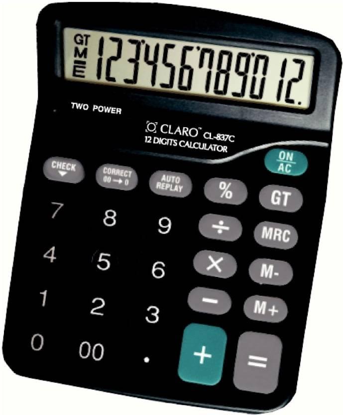 Claro CL - 837C Black Basic  Calculator