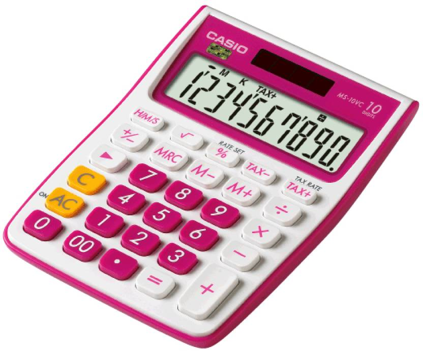Casio MS-10VC-RD Basic  Calculator